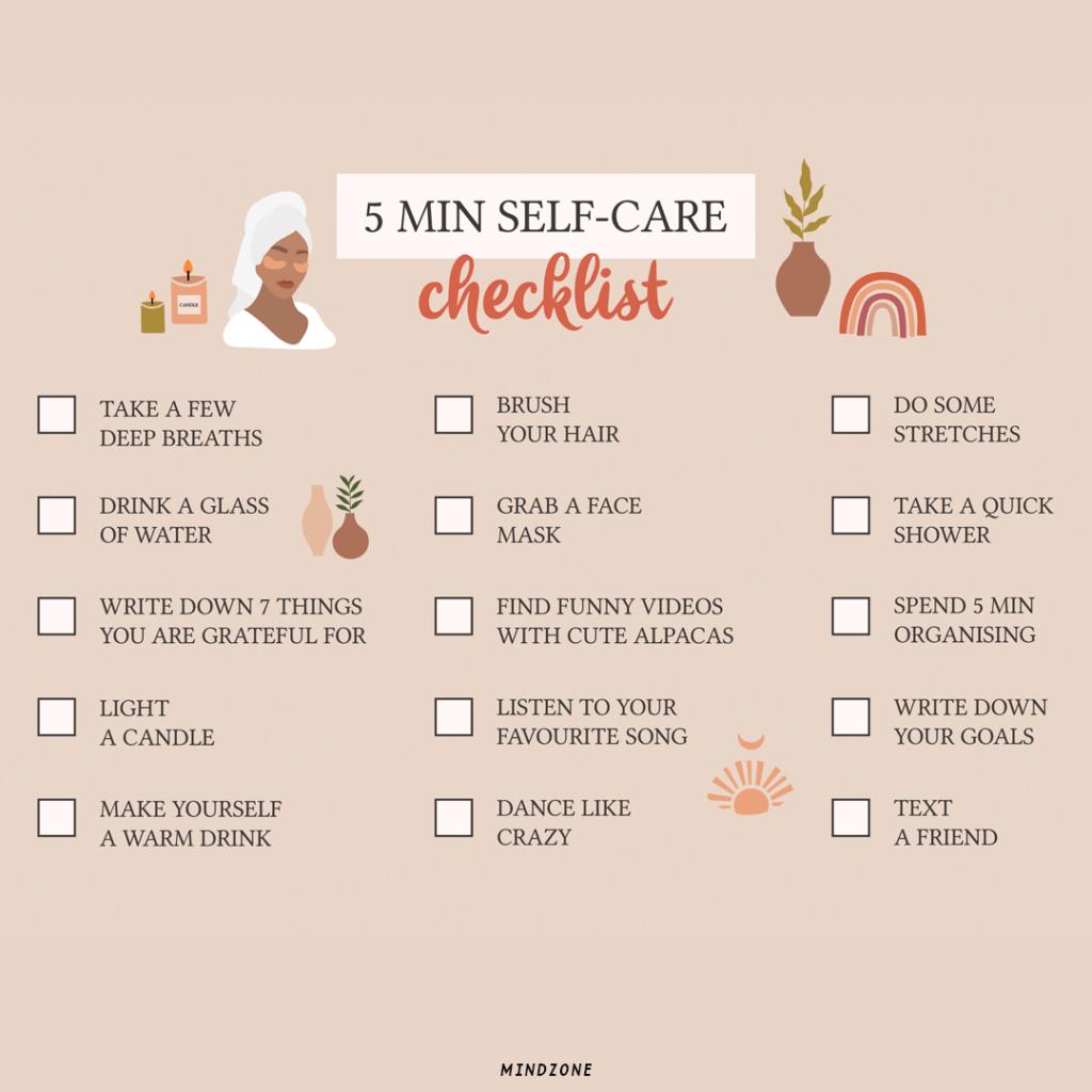 5 min self-care