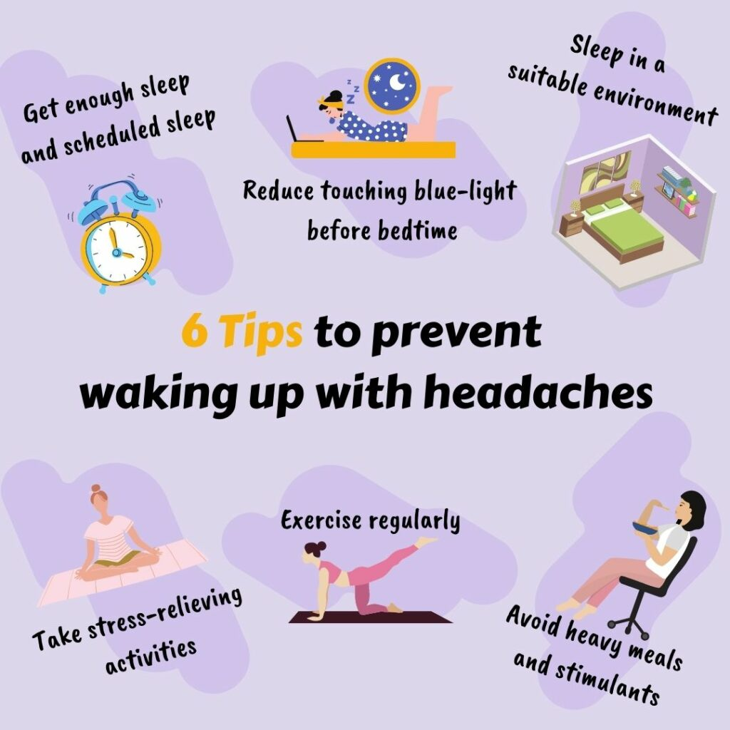 How to prevent waking up with headaches