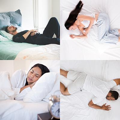 four common sleep positions